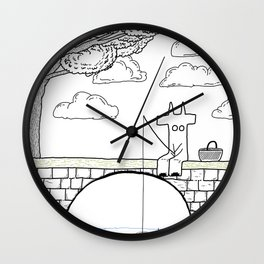 diable et pique nique Wall Clock