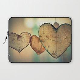 Vintage Boho Chic Bokeh Hearts Wind Chimes Laptop Sleeve