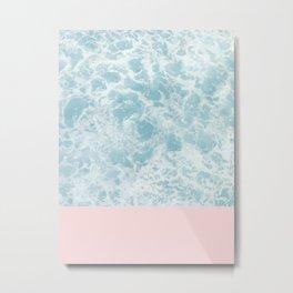 Pink on the Sea Metal Print