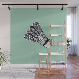WHO WANTS TO PLAY BADMINTON? - MINT Wall Mural