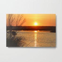 Topsail Island Sunset Metal Print