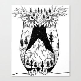 Mothernature Owl Canvas Print