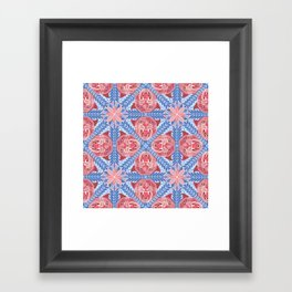 Pink Panther Pattern Framed Art Print