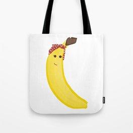 Banana in Bandana Tote Bag