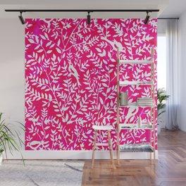 Wonderlust Pink#Birds let's run away Wall Mural