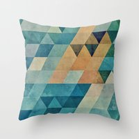 Throw Pillows featuring vyntyge pwwdr by Spires
