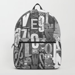 Lettepressed B&W Backpack