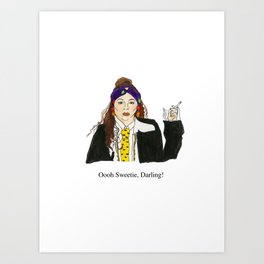 Absolutely Eddie Art Print