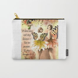 A Bird has a song Carry-All Pouch