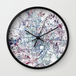 Minneapolis map Wall Clock