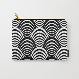 Black and White Art Deco Pattern Carry-All Pouch