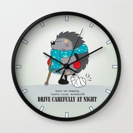 Drive carefully at night Wall Clock