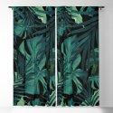 Tropical Jungle Night Leaves Pattern #1 #tropical #decor #art #society6 by anitabellajantz