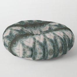 Shades of Green Shibori Floor Pillow