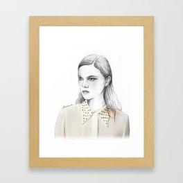 stud collar Framed Art Print