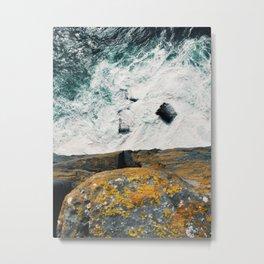 Over the edge of Dún Aonghasa Metal Print