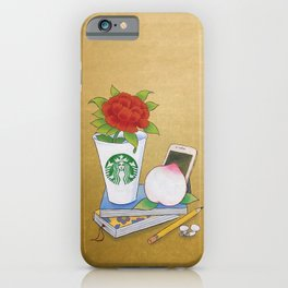 Modern Minhwa in Cafe (Korean traditional/folk art) iPhone Case
