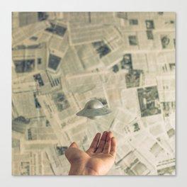 Tiny UFO Canvas Print