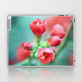 Textured Chaenomeles Japonica Laptop & iPad Skin