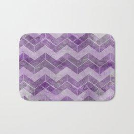 Chevron pattern, watercolors purple Bath Mat