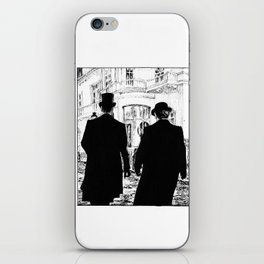 Men out of their Time iPhone Skin