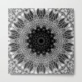 Mandala Web - Abstract Kaleidoscope Art by Fluid Nature Metal Print