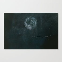 VENTURE ETERNALLY MOON CHALK PRINT Canvas Print