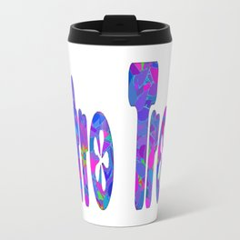 Flower Trash Metal Travel Mug