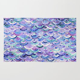 Marble Mosaic in Amethyst and Lapis Lazuli Rug