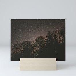 Stars in Forest Mini Art Print