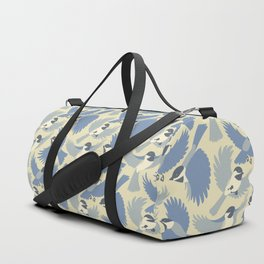 Chickadees  in Blue Duffle Bag