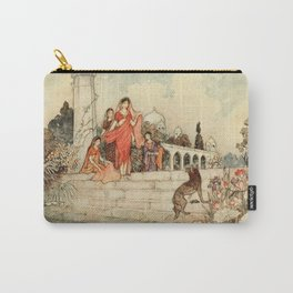 Indian ladies on temple steps - Warwick Goble Carry-All Pouch