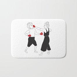 Women boxing Bath Mat