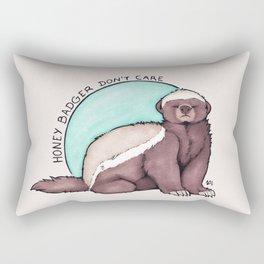 Honey Badger Don't Care Rectangular Pillow