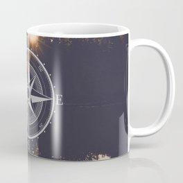 Wooded Lake Reflection Compass Coffee Mug