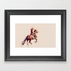 Horse modern art toupe Framed Art Print