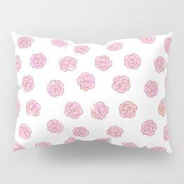 Elegant girly faux gold pink glitter flowers Pillow Sham