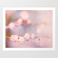 strawberry Art Prints featuring Strawberry by Hello Twiggs