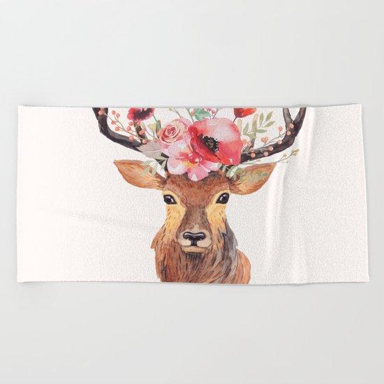 Bohemian Deer Beach Towel