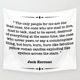 Jack Kerouac Quote Wall Tapestry