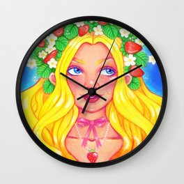 Strawberry Princess Wall Clock