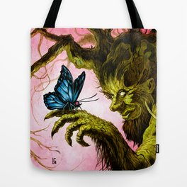 Tree and Butterfly Tote Bag