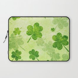 Green Shamrocks Laptop Sleeve