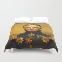 replaceface Duvet Covers featuring Alan Rickman - replaceface by replaceface