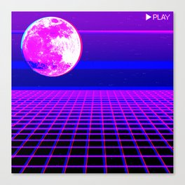 Once In A Neon Moon Canvas Print