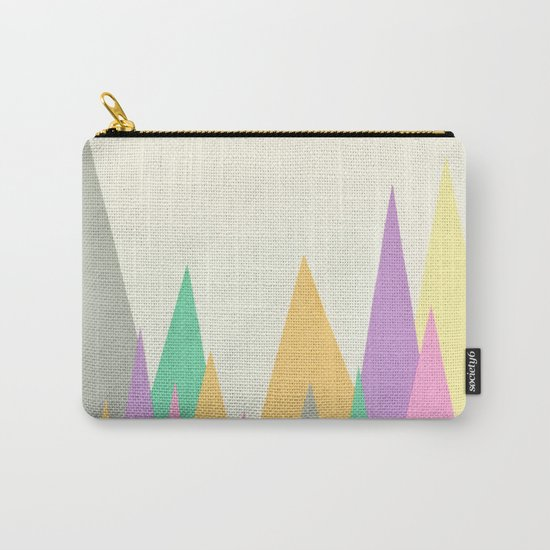 Pastel Peaks Carry-All Pouch