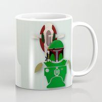 starwars Mugs featuring StarWars  Boba Fett  by Joshua A. Biron