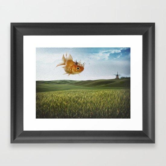 king fish Framed Art Print
