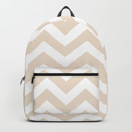 Almond - pink color - Zigzag Chevron Pattern Backpack
