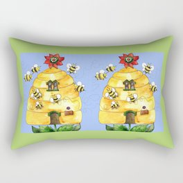 Busy Bees Rectangular Pillow